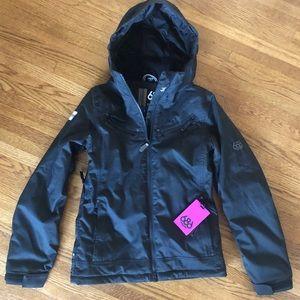 NWOT 686 black snowboard jacket infidry 8 thermal